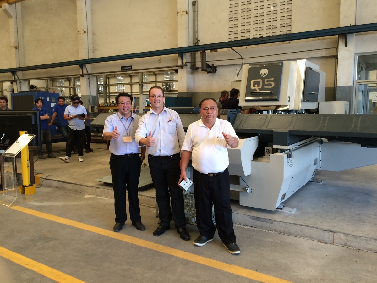 Q5 punch press showcased in Thailand at open days M.E.D. Engineering!